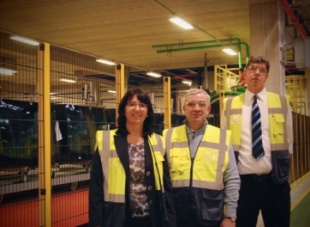 Senior Vice-President of Flat Glass activity Patrick Dupin in Horovice